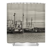 Fishing Boats - Wildwood New Jersey Shower Curtain