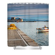 fishing boats 'XIV Shower Curtain