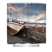 fishing boats 'XVI Shower Curtain