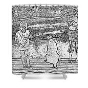 Fishing Buddies Shower Curtain