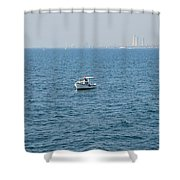 Fishing Can Be Lonely Shower Curtain