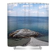 Fishing Cone Geyser In West Thumb Geyser Basin Shower Curtain