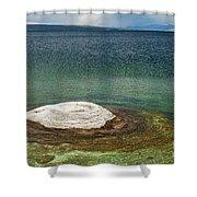 Fishing Cone In West Thumb Geyser Basin Shower Curtain
