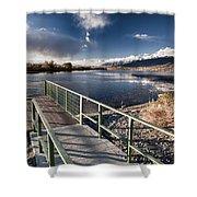 Fishing Dock Shower Curtain