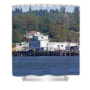 Fishing Docks On Puget Sound Shower Curtain