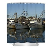 Fishing Fleet Shower Curtain