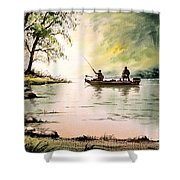 Fishing For Bass - Greenbrier River Shower Curtain