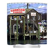Fishing For Business Shower Curtain