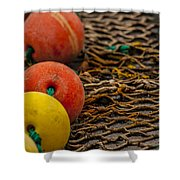 Fishing Gear Abstract Shower Curtain