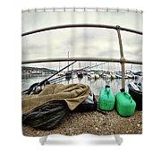 Fishing Gear Shower Curtain