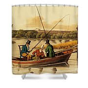 Fishing In A Punt Shower Curtain