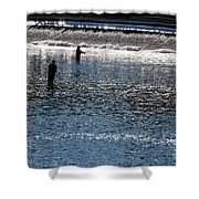 Fishing In Grand River Shower Curtain