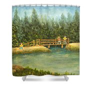Fishing In New England Shower Curtain