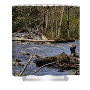 Fishing In Pacific Northwest Shower Curtain