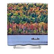 Fishing In The Fall Colors On Lake Chocorua Shower Curtain