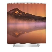 Fishing In The Fog Shower Curtain by Lori Grimmett