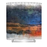 Fishing In The Fog Photo Art Shower Curtain