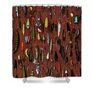 Fishing Lures 01 Shower Curtain