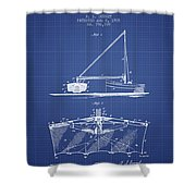 Fishing Net Patent From 1905- Blueprint Shower Curtain