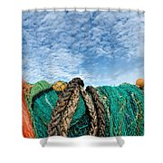 Fishing Nets And Alto-cumulus Clouds Shower Curtain
