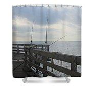 Fishing Off Rodanthe Pier Shower Curtain