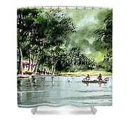 Fishing On Lazy Days - Aucilla River Florida Shower Curtain