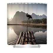Fishing On Li River Shower Curtain