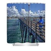 Fishing On Oceanside Pier Shower Curtain