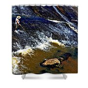 Fishing On The South Fork River Shower Curtain