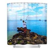 Fishing Paradise Shower Curtain