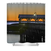 Fishing Pier At Dusk Shower Curtain