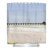 Fishing Pier In Naples Shower Curtain
