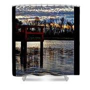 Fishing Pier Sunset  Shower Curtain