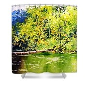 Fishing Pond Shower Curtain