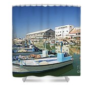 Fishing Port In Jaffa Tel Aviv Israel Shower Curtain