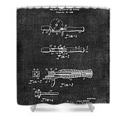 Fishing Reel Seat Patent 038 Shower Curtain