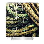 Fishing Rope Textures Shower Curtain