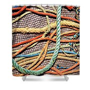 Fishing Ropes And Net Shower Curtain