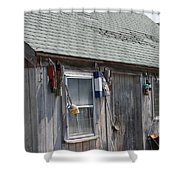 Fishing Shack In Rockport Ma Shower Curtain