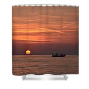 Fishing Since Before Sun-up Shower Curtain