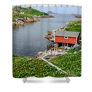 Fishing Stage Little Fogo Island Newfoundland Shower Curtain