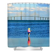 Fishing Tampa Bay Shower Curtain by David Lee Thompson