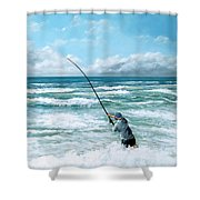 Fishing The Gutters Shower Curtain