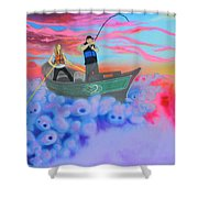 Fishing The Sky Shower Curtain