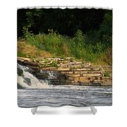 Fishing The Spillway Shower Curtain