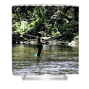 Fishing The Wissahickon Shower Curtain