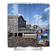 Fishing Town Shower Curtain