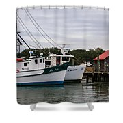 Fishing Trawlers Shower Curtain
