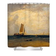 Fishing Upon The Blythe-sand Shower Curtain