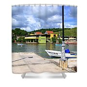 Fishing Village Puerto Rico Shower Curtain